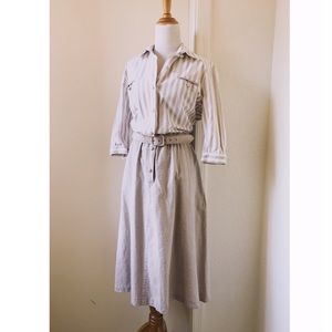 Vintage Button Front Secretary Dress